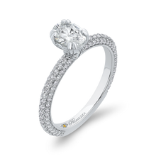 Load image into Gallery viewer, 14K White Gold Oval Diamond Classic Engagement Ring