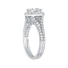 Load image into Gallery viewer, 14K White Gold Cushion Cut Diamond Halo Engagement Ring