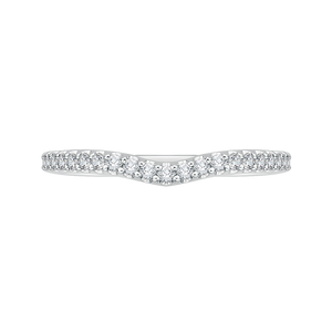 PRU0137BH-44W-.40 Bridal Jewelry Carizza White Gold Round Diamond Wedding Bands