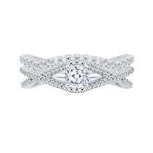 Load image into Gallery viewer, Cushion Diamond Engagement Ring with Split Shank In 14K White Gold