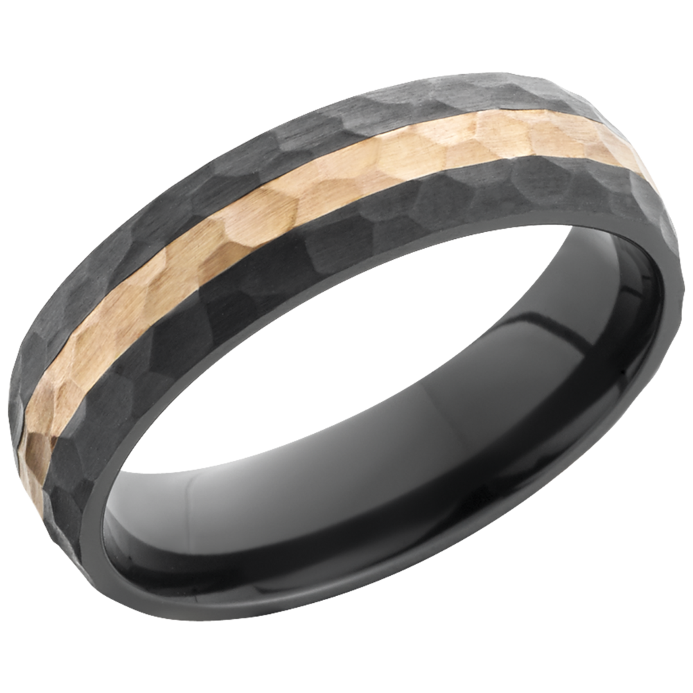 lashbrook zirconium collection zirconium 6mm domed band z6d12_14kr+hammer