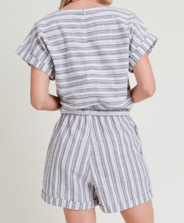 Striped Blueberry Romper