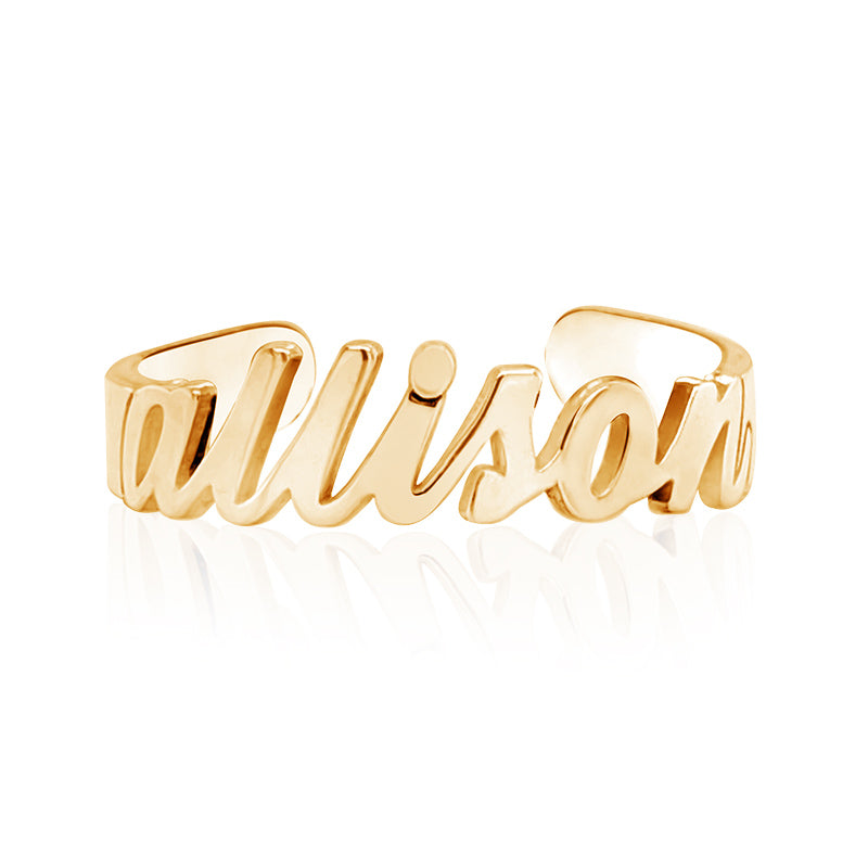 Exclusive Personalized Name Toe Ring