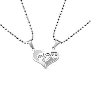 Personalized Heart Necklace for Couple