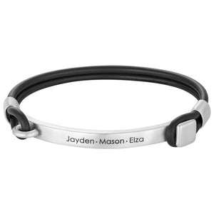 Personalized Rubber Bracelet with Engravable Bar