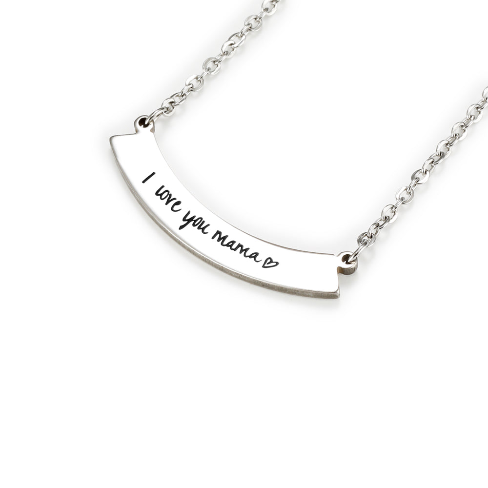 Engraved Bar Necklace For Mother's Day