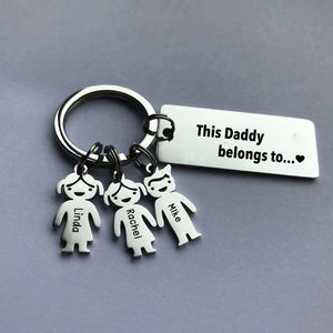 Personalized Family Name Keychain - Father's day gift