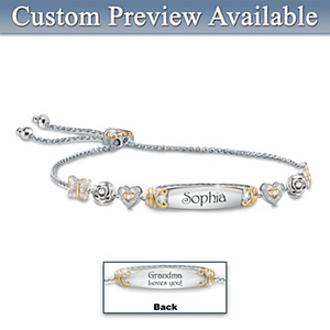 Granddaughter Bracelet With Two Personalized Engravings
