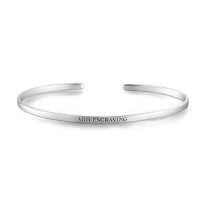 Silver Engravable Cuff Bangle