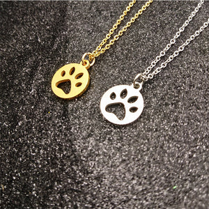 Hollow Pet Paw Necklace G2706