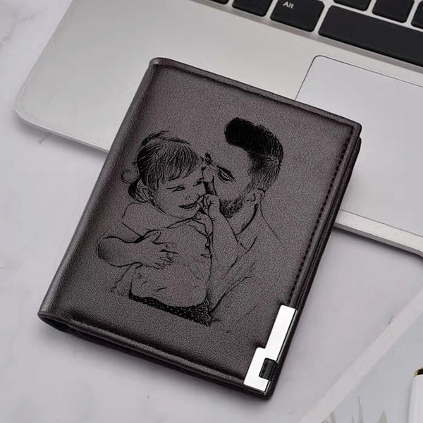 Personalized Double-Sided Photo Ultra Thin Vertical Men's Wallet