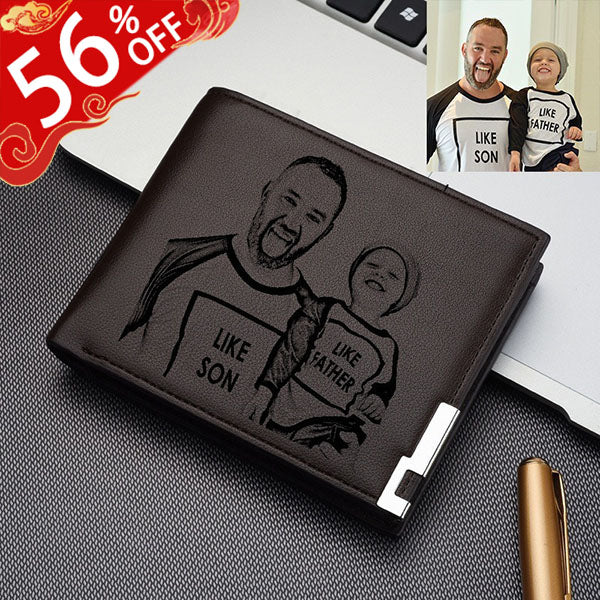 Personalized Ultra Thin Men's Photo Wallet