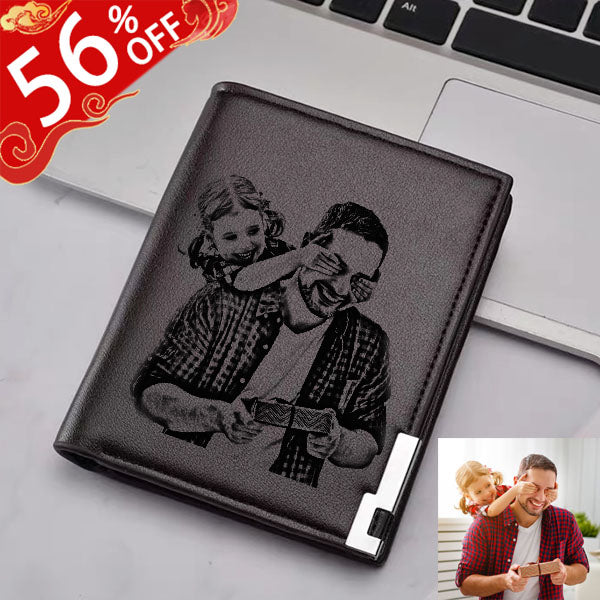 Personalized Ultra Thin Vertical Men's Photo Wallet