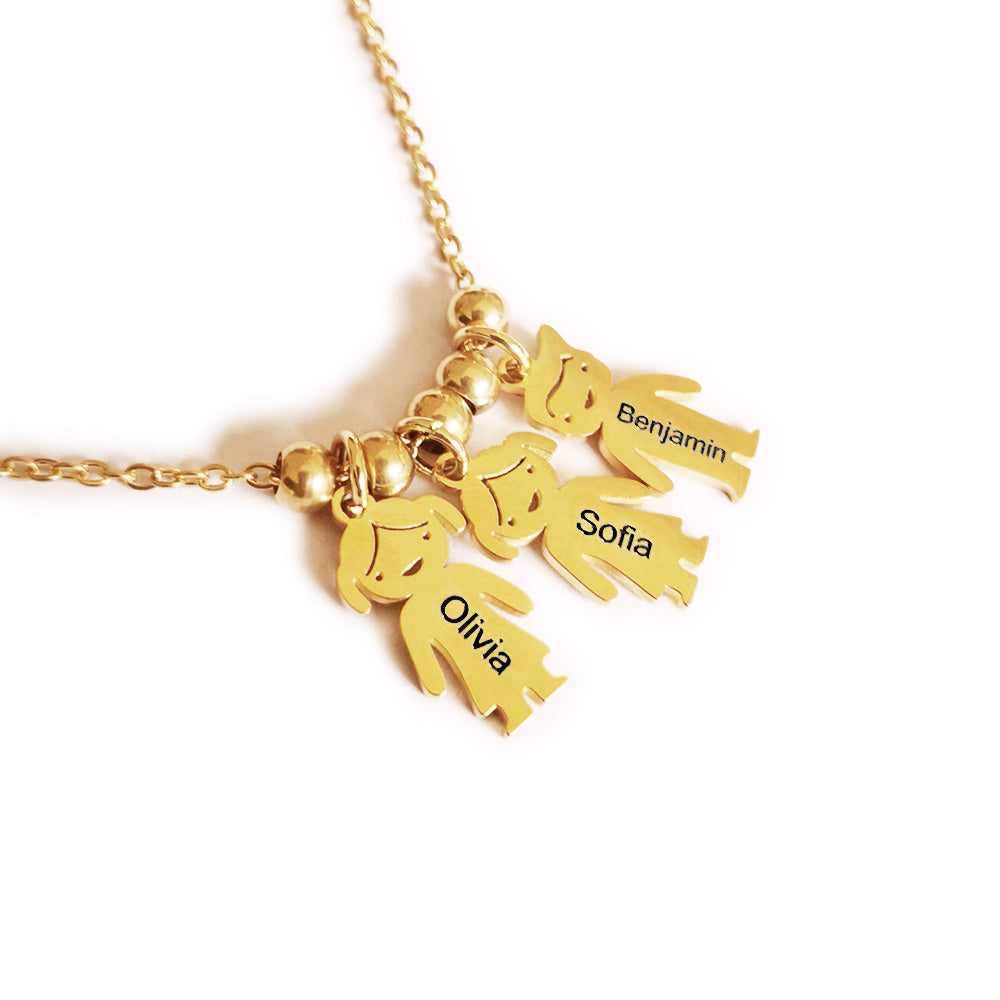 Famliy Name Moppet Necklace for Mom
