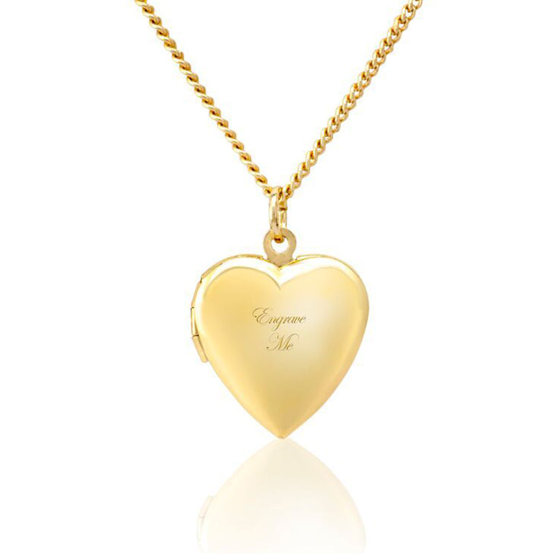 Gold Custom Heart Locket Necklace