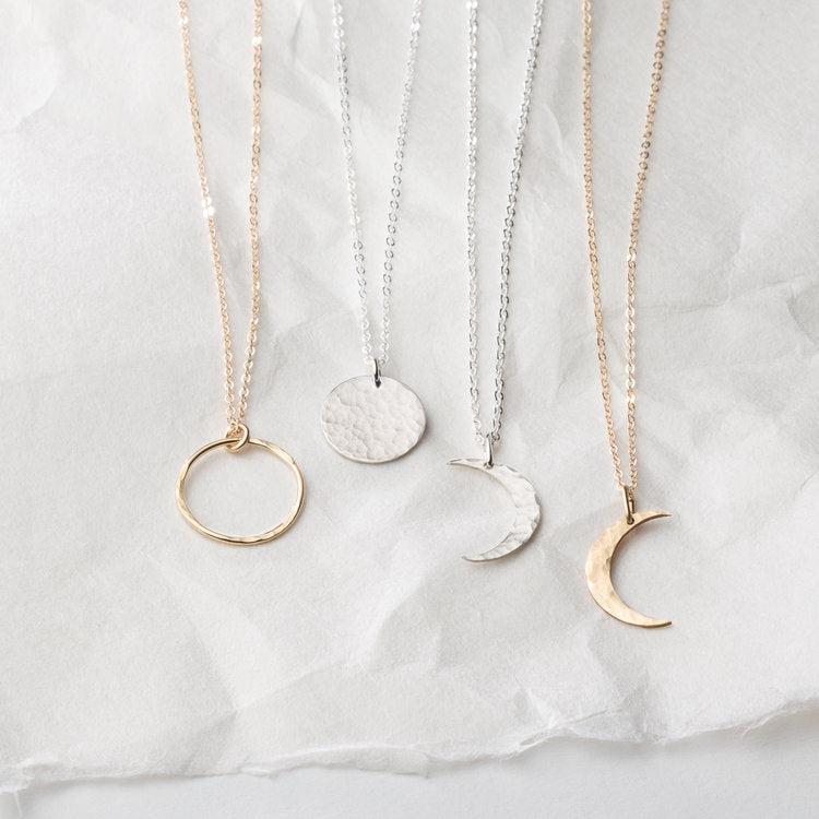 Lunar Phase Necklaces