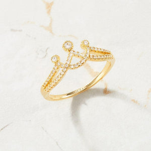 ENGRAVED CROWN RING