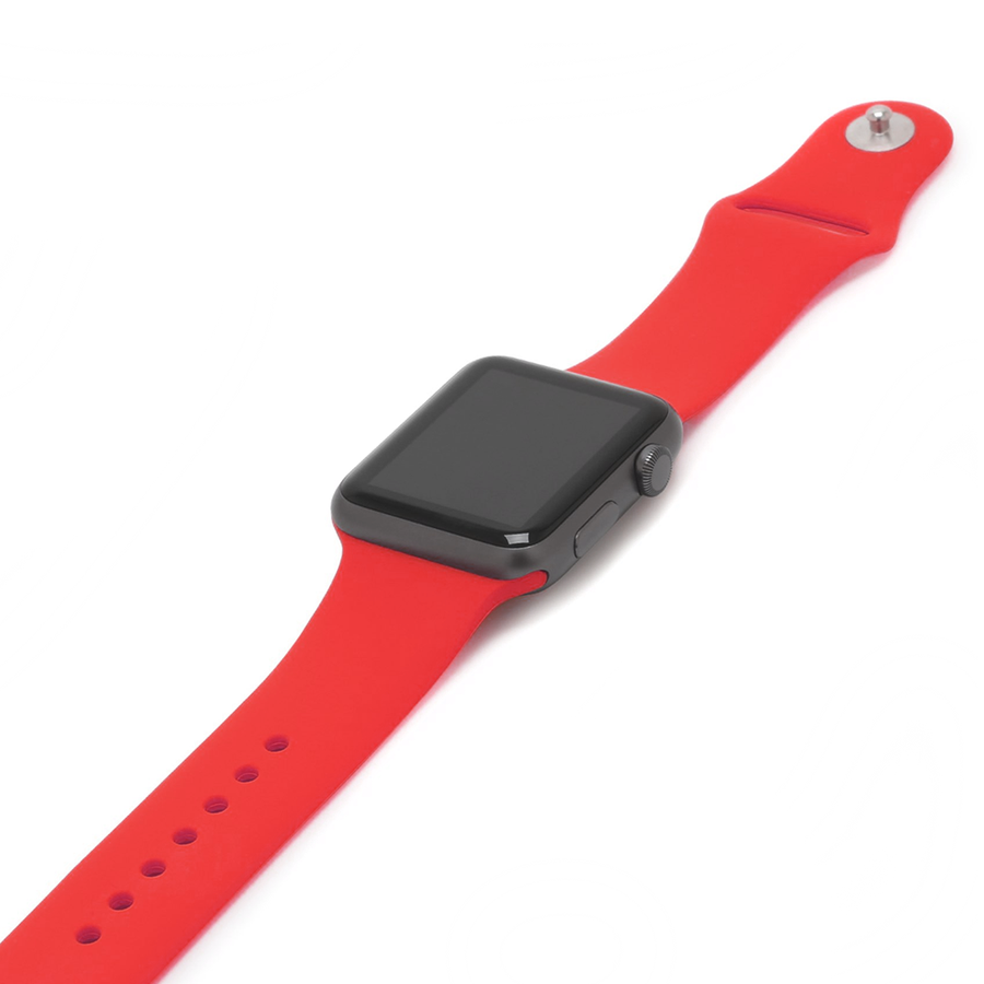 Silicone Apple Watch Band - Apple Red - Memebands