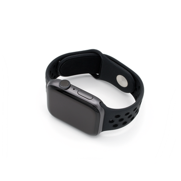 Sport Silicone Apple Watch Band - Black - Memebands