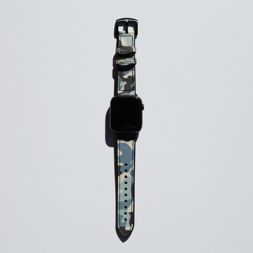 Blue Camo Hybrid Apple Watch Band - Memebands