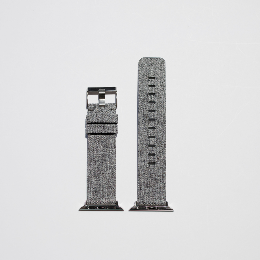 Canvas Apple Watch Band - Light Gray - Memebands