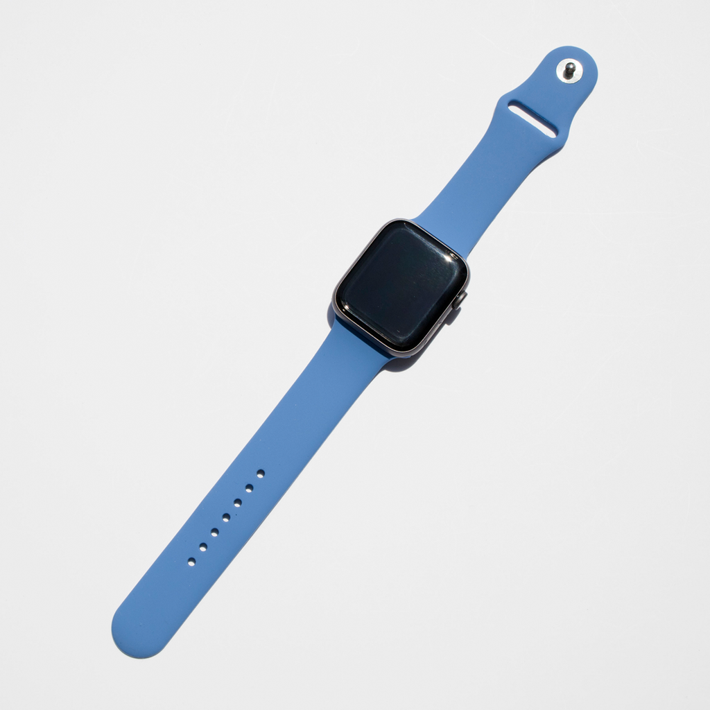 Silicone Apple Watch Band - Denim Blue - Memebands