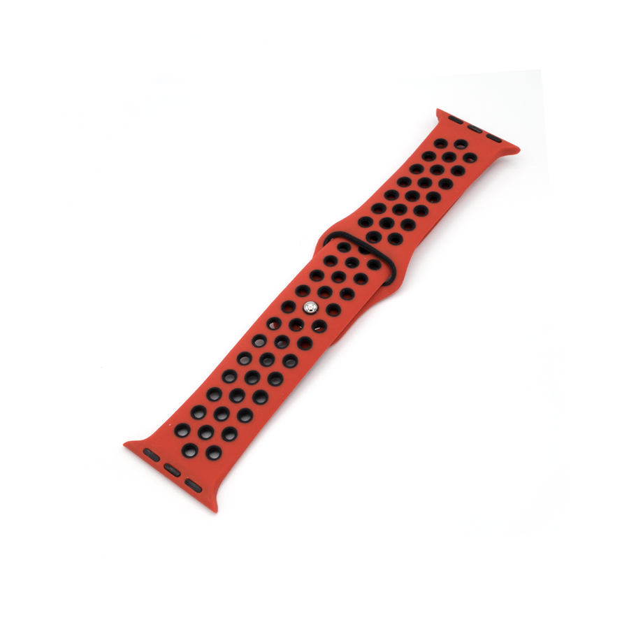 Sport Silicone Apple Watch Band - Fire/Black - Memebands