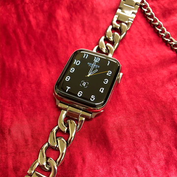 Metal Chain Link Apple Watch Band - Gold - Memebands