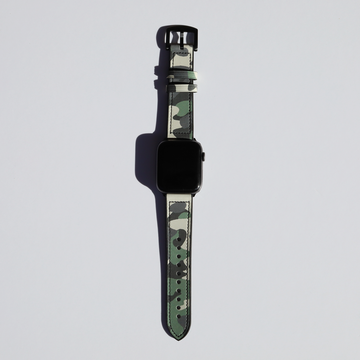Green Camo Hybrid Apple Watch Band - Memebands