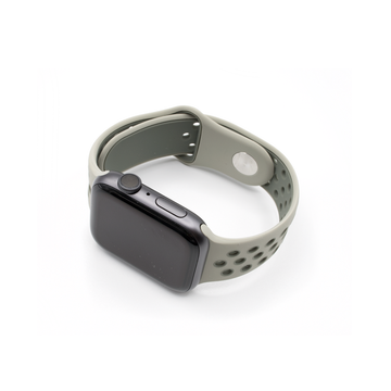 Sport Silicone Apple Watch Band - Grey - Memebands