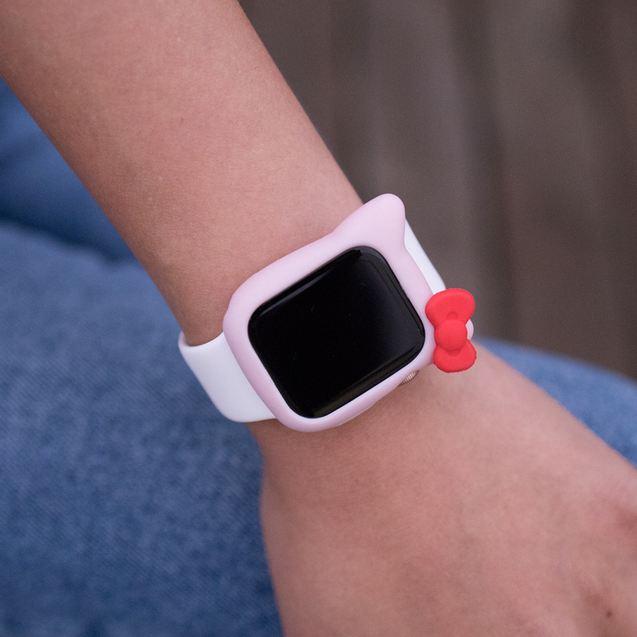 Kitty Silicone Apple Watch Case - Pink - Memebands