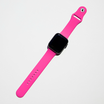 Silicone Apple Watch Band - Hot PInk - Memebands