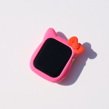 Kitty Silicone Apple Watch Case - Hot Pink - Memebands