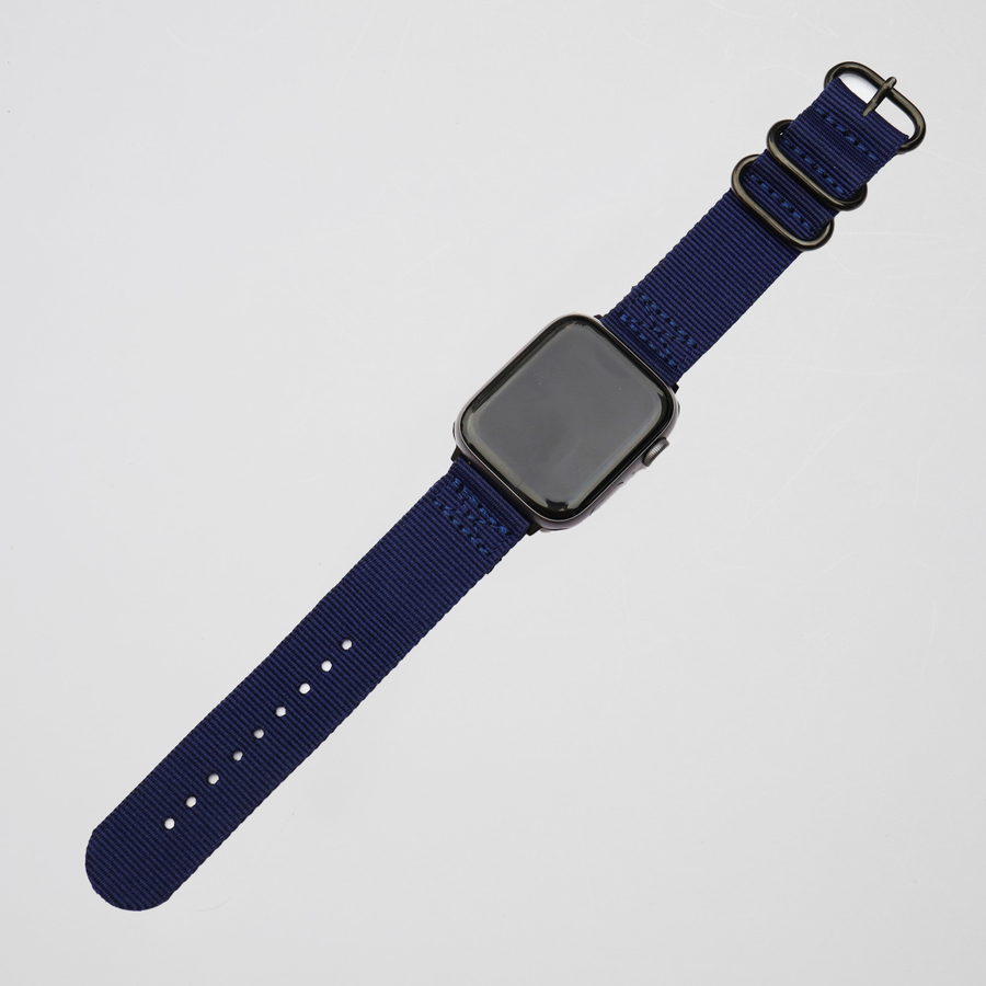 NATO Nylon Apple Watch Band - Indigo - Memebands