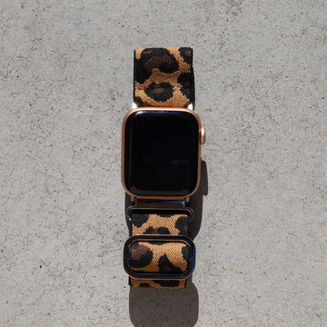 Elastic Apple Watch Band with Adjustable Loop - Brown Leopard - Memebands