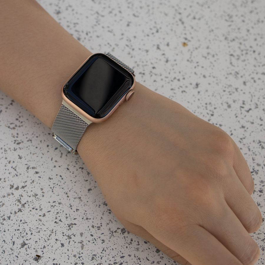 Silver Milanese Loop Apple Watch Band - Memebands