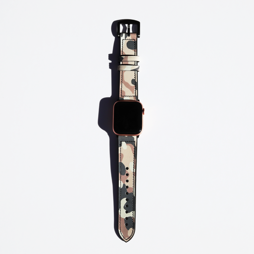 Pink Camo Hybrid Apple Watch Band - Memebands