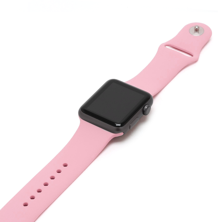 Silicone Apple Watch Band - Pink - Memebands
