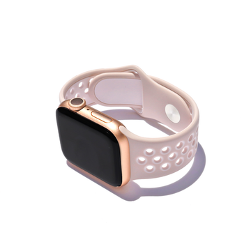 Sport Silicone Apple Watch Band - Powder Pink - Memebands