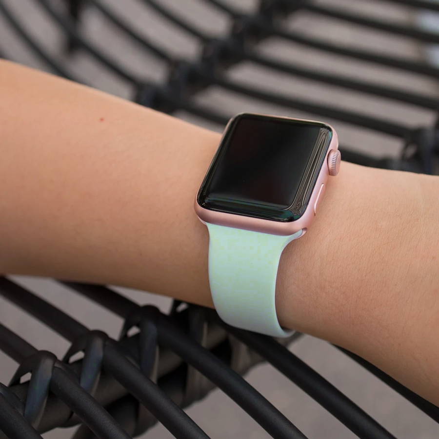 Silicone Apple Watch Band - Seafoam - Memebands