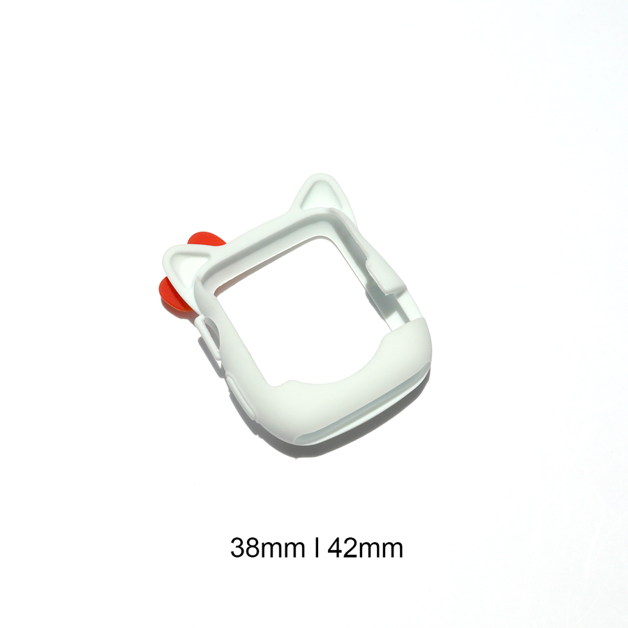 Kitty Silicone Apple Watch Case - White - Memebands