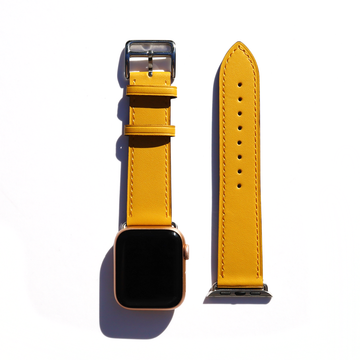 Dandelion Yellow Apple Watch Leather Band - Memebands