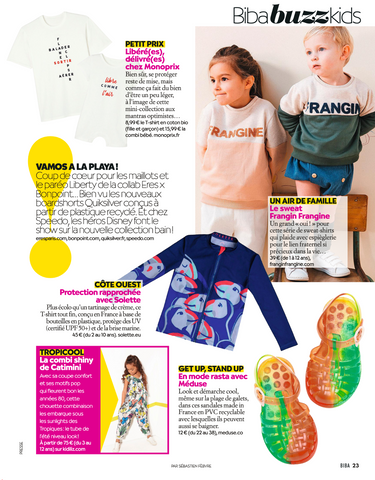 Article BIBA sur le t-shirt anti-uv Solette Beachwear
