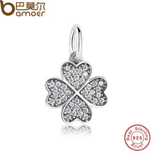 Load image into Gallery viewer, Happiness Four-Leaf Clover Pendant Charms Fit Original Bracelet & necklace 925 Sterling Silver Symbol Of Lucky In Love PAS136