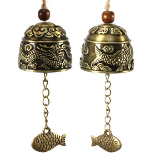 1pc Dragon/Fish Feng Shui Bell Blessing Good Luck Fortune Hanging Wind Chime