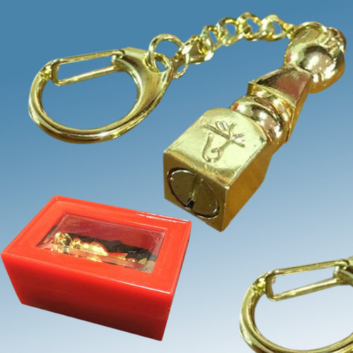 1pc New Feng Shui 5 Element Pagoda Key chain Wealth Safety Health Amulet Gold Plated Exquisite Keychain