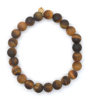 Load image into Gallery viewer, Matte Tiger's Eye Stone Bracelet