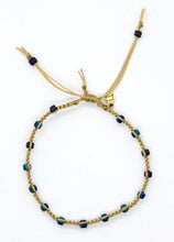 Load image into Gallery viewer, Matte Peacock Seed Bead Macrame Minimalist Bracelet with Sand Cord