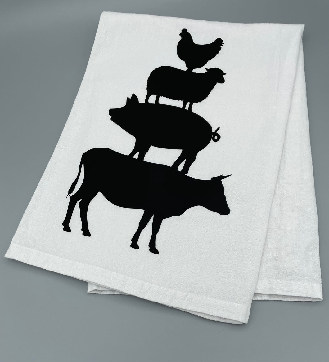 Farm Animal Silhouette Towel
