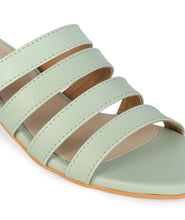 Load image into Gallery viewer, 4-Strap Block Heel - Mint Green